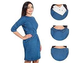 Jaamso Royals Women's Cotton A-line 801-X Denim Dress