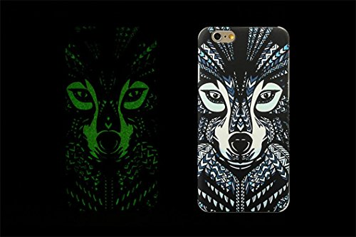 Borch Fashion Luminous Series the King of Beasts Deep Forest Phone Protective Shell for Iphone 6 5.5 Inch New Cell Phone Case (style 5)