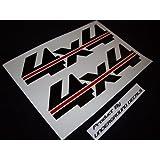 """CHEVY 4X4 Fender 15"""" Strikethrough Decal Kit GLOSS BLACK & RED by Underground Designs ~ UNDERGROUND DESIGNS"""