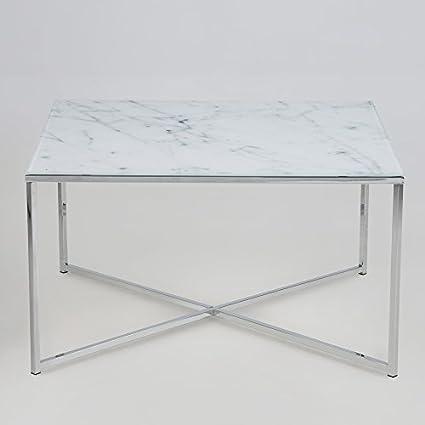 Lounge de zona mesa de salón (marmori tablero cristal con mármol Diseño Estructura de cromo 13498