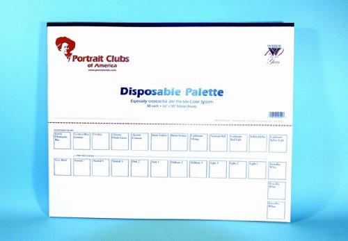 John Howard Sanden Pro Mix Disposable 30-Sheet Paper Palette 16×20