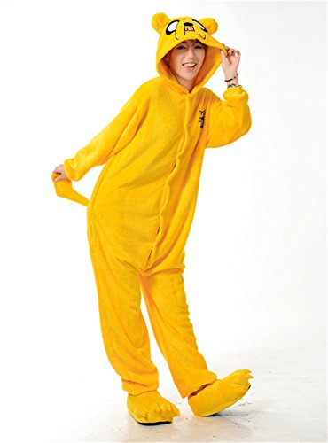 VU ROUL Adult Costumes Adventure Time Pajama Cosplay Onesies Kigurumi Jake the Dog S