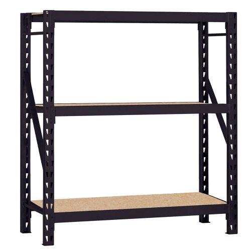 Edsal ERZ601866PB3 Muscle Rack Black Steel Bulk Storage Rack, 3 Shelves, 1200 lb. Shelf Capacity, 66