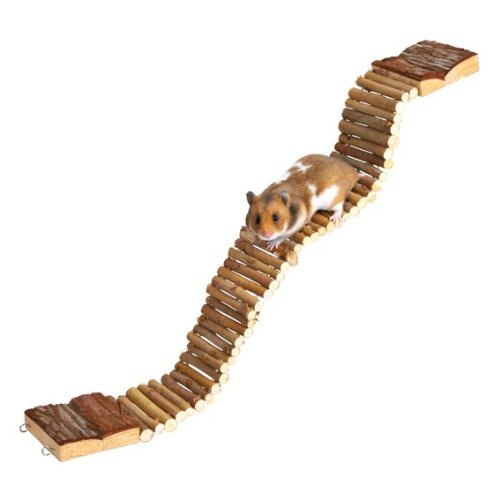 Suspension Bridge Wooden Hamster Gerbil Cage Pet Ladder