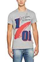 Love Moschino Camiseta Manga Corta (Gris Jaspeado)