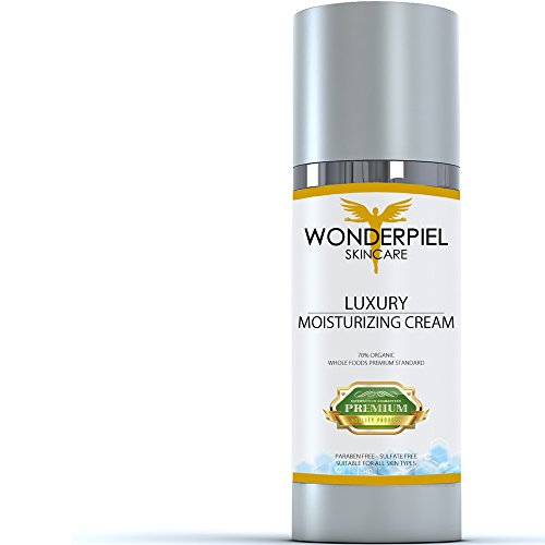Face Moisturizer for Dry Skin by WONDERPIEL for Men and Women - 100% Natural 70% Organic