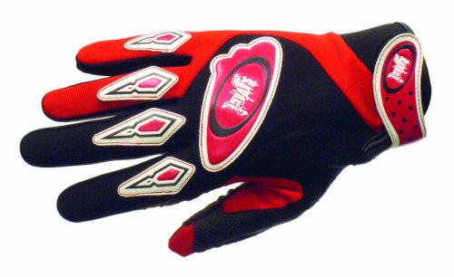 Savage Flite BMx Mountain Bike Full Finger Gloves Red Medium