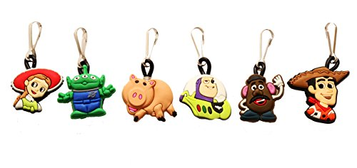 AVIRGO 6 pcs Zipper Pull # 1 / Zip pull Charms for Jacket Backpack Bag Pendant Set # 108-2