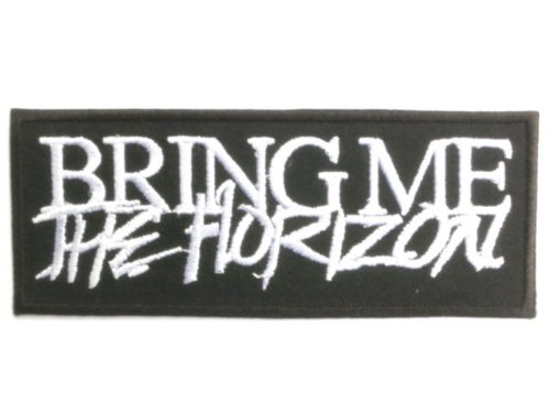 "Fantastic Deal! BRING ME THE HORIZON Logo Deathcore Metal Patch 4""/10.2cm x 1.5""/4cm By MN..."