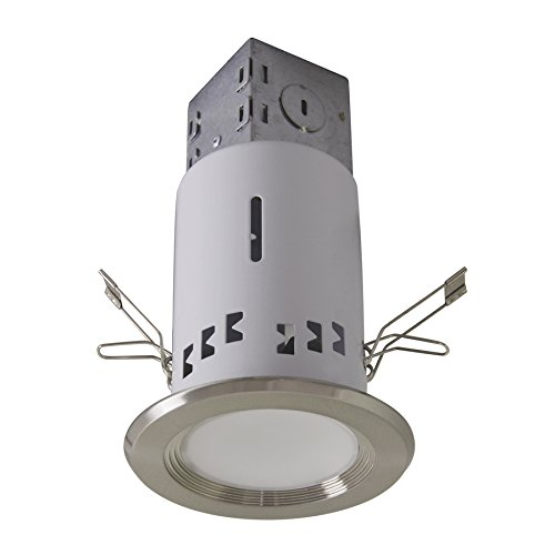 Utilitech Pro Brushed Nickel Led Remodel Recessed Light Kit (Common: 3-In; Actual: 4-In)
