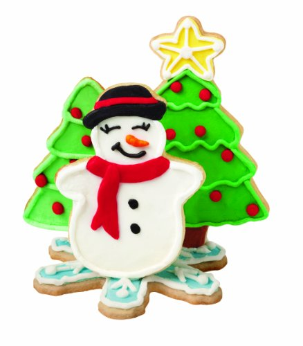 Wilton 2308-0330 Holiday 4-Piece Scene Cookie Cutter
