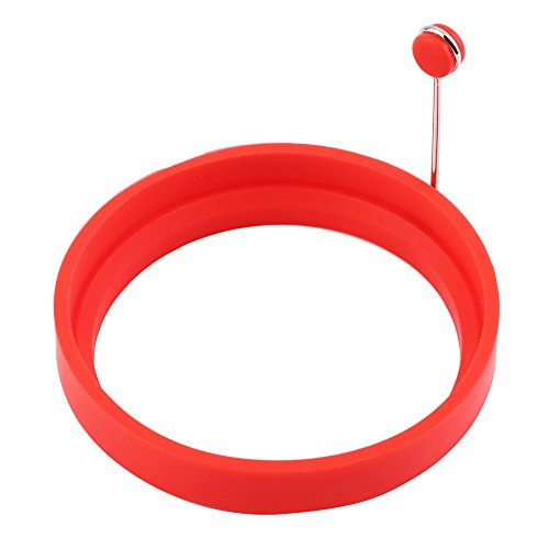 New Creative round Shape Silicone Omelette Shaper Egg Fried Frying Pancake Cooking Mould Breakfast Essential Red