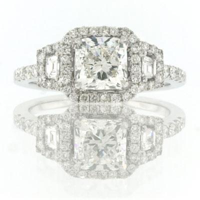 1.95ct Cushion Cut Diamond Engagement Anniversary