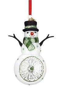 #!Cheap Reed & Barton European Glass Blown Snowman Reflector Ornament, Height 5.5