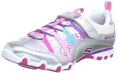 43fc68a305d9 Skechers girls bella ballerina spin rider trainers silver jpg 395x246 Skechers  ballerina spinners
