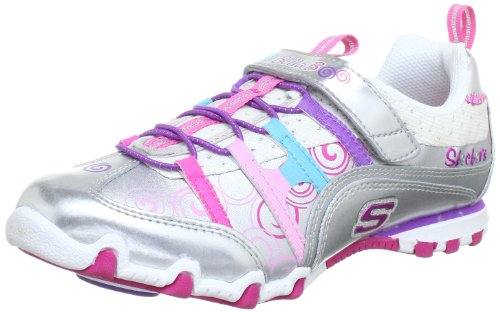Skechers Bella BallerinaSpin Rider Trainers Girls Silver Silber (SMLT) Size: 9 (27 EU)