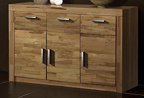 4-4-3-1232: made in BRD - Kommode - Anrichte - Sideboard - Kernbuche