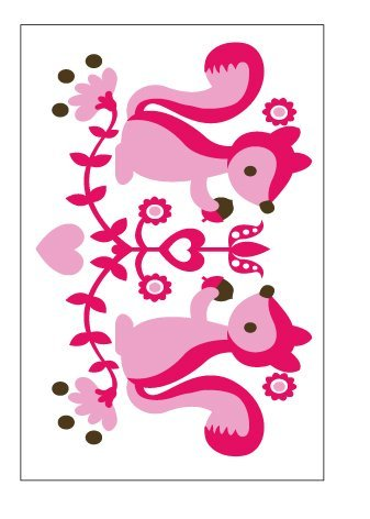 Pink Squirrel Wall Decor Stickers - 1