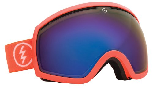 Electric Eg2 Snow Goggle, Salmonella, Grey/Blue Chrome