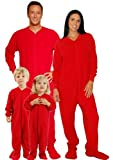 Red Footed Family Matching Fleece Pajamas by SleeptimePjs