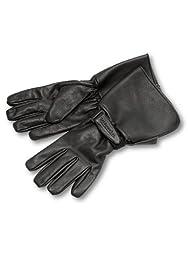Milwaukee Motorcycle Clothing Company Men\'s Leather Gauntlet Riding Gloves (Black, X-Large)