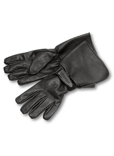 Milwaukee Motorcycle Clothing Company Men's Leather Gauntlet Riding Gloves (Black, X-Large) (Milwaukee Motorcycle Company compare prices)