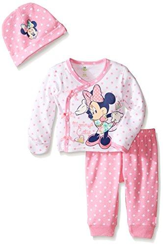 Disney Baby Girls' Minnie Mouse 3 Piece Layette Set, Pink, 3-6 Months