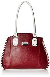 Fantosy Women's Handbag (Maroon And White,Fnb-388)