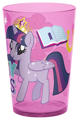 Zak! Designs Tumbler with My Little Pony Graphics, Durable and BPA-free Plastic, 14.5 oz.