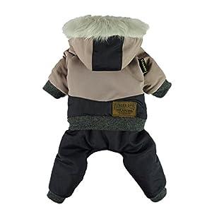 Fitwarm Waterproof Pet Clothes for Dog Windproof Jackets Outdoor Fleece Hooded Coats Black Medium