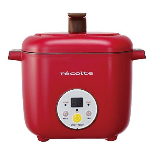 レコルト ヘルシーコトコト 2段同時調理器 レッド RHC-1R