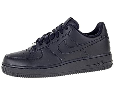 classic fit 0fef0 4831c Nike Kids Air Force 1 (GS) Black Black Black Basketball Shoes 6.5
