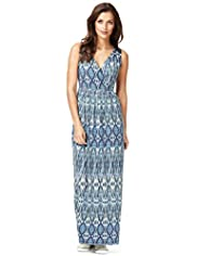 Indigo Collection Ikat Print Maxi Dress with Modal