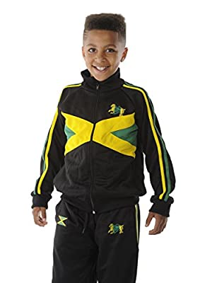 rasta4real CHILDRENS - LION OF JUDAH Rasta JAMAICA FLAG JACKET