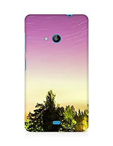 Amez designer printed 3d premium high quality back case cover for Microsoft Lumia 535 (Trees and sky)