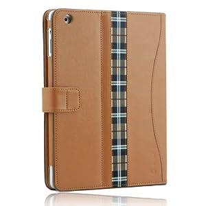 Splash Safari Folio Case with Stand for iPad 2 - Tan Brown