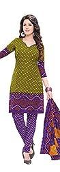 RK Fashion Womens Chiffon Un-Stitched Salwar Suit Dupatta Material ( Rajguru-Rimzim-9054-Green-Free Size )