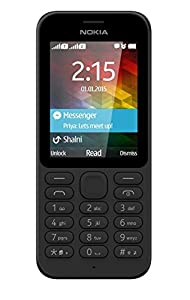 Microsoft Nokia 215 UK-Sim Free Mobile Phone - Black