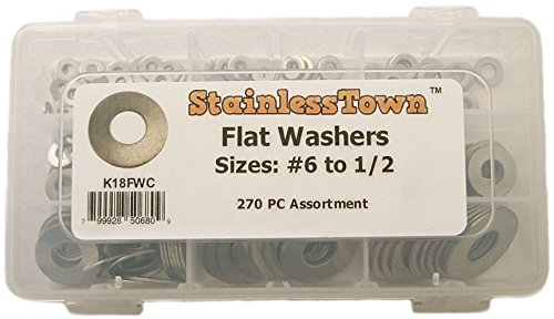 StainlessTown K18FWC Stainless Flat Washer Assortment Kit (Stainless Washers compare prices)