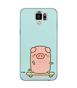 The Fappy Store Skateboard-Piggy Plastic Back Case Cover For Samsung Galaxy S6