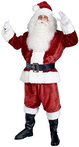 Rubie's Costume Deluxe Crimson Imperial Plush Santa Suit Costume