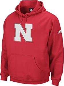 Adidas Nebraska Cornhuskers Embroidered Red Playbook Hoodie by adidas