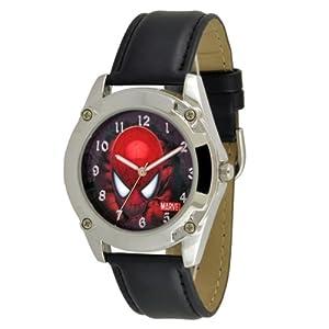 Marvel Comics Men's SPM096 Spiderman Black Strap Action Dial Watch