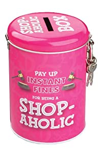Boxer Gifts Instant Fines Pay Up Tin, Shop-a-Holic