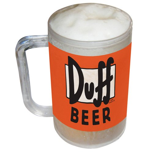 Zeon BS361 Simpsons - Boccale per birra Duff Beer congelabile