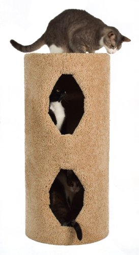 Molly and Friends 2-Story Condo Premium Handmade Cat Tree, Beige