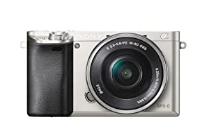 Sony Alpha a6000 Interchangeable Lens Camera with 16-50mm Power Zoom Lens (Silver)