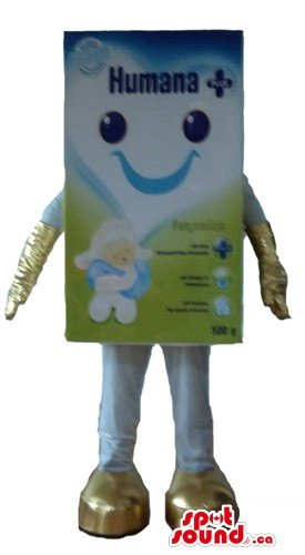 humana-white-and-blue-spotsound-mascot-canada-with-blue-eyes-arms-and-legs