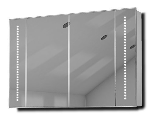 Star Led Illuminated Bathroom Mirror Cabinet With Sensor & Shaver K71