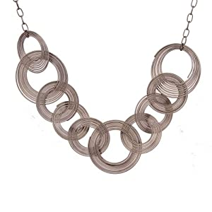Amazon.com: Unique Urban Jewelry Multi Hoops Long Necklace Women Jewelry 33